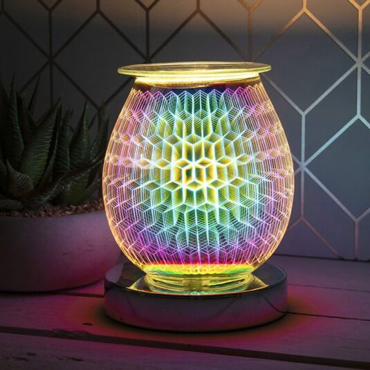 Desire Bulbous Rhombus Aroma Lamp Wax Melt Warmer