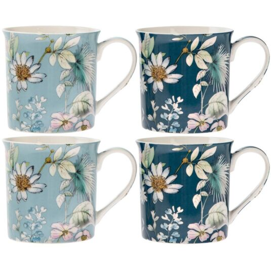 Daisy Meadow Set of 4 Mugs