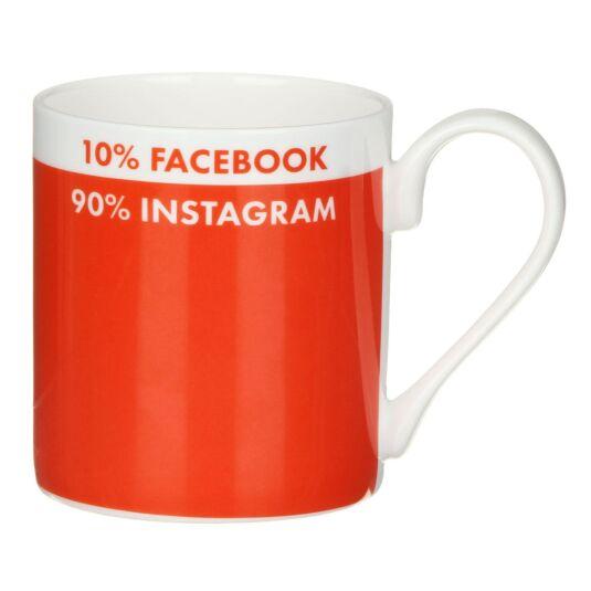 Mclaggan Smith '10% Facebook, 90% Instagram' Mug