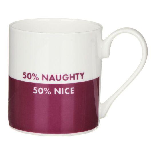 '50% Naughty, 50% Nice' Mug