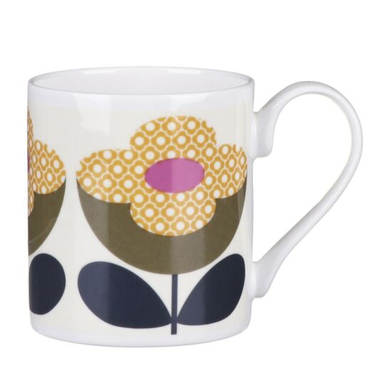 Olive and Yellow Buttercup Stem Small Mug