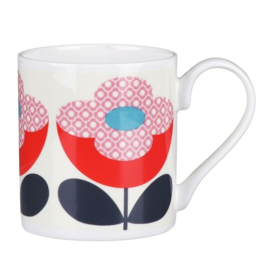 Red and Pink Buttercup Stem Small Mug