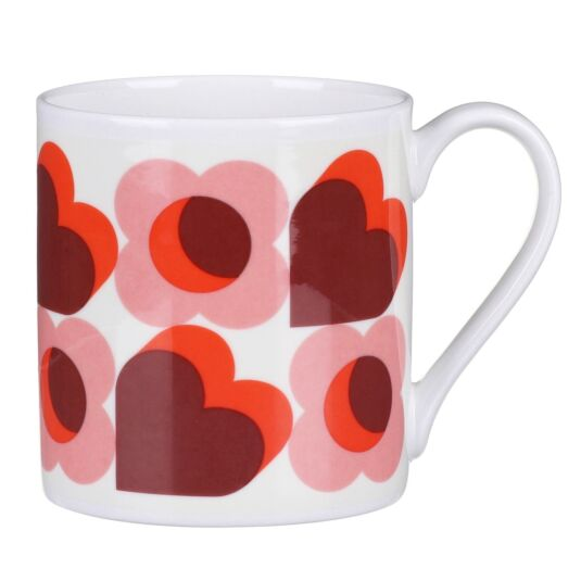 Pink Love Hearts Large Mug