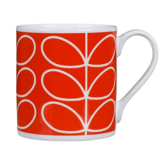 Orange Poppy Linear Stem Large Mug