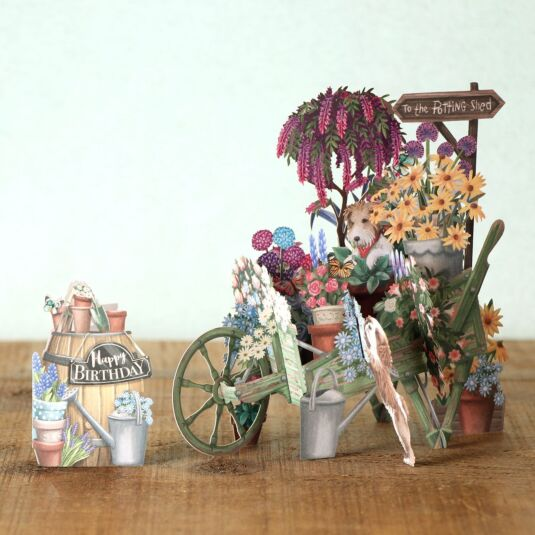 """The Wheelbarrow"" 3D Birthday Card"