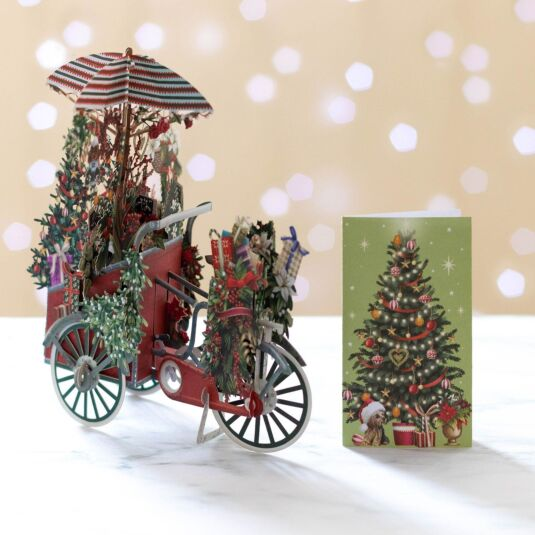 'Christmas Florist' Pop Up Christmas Card