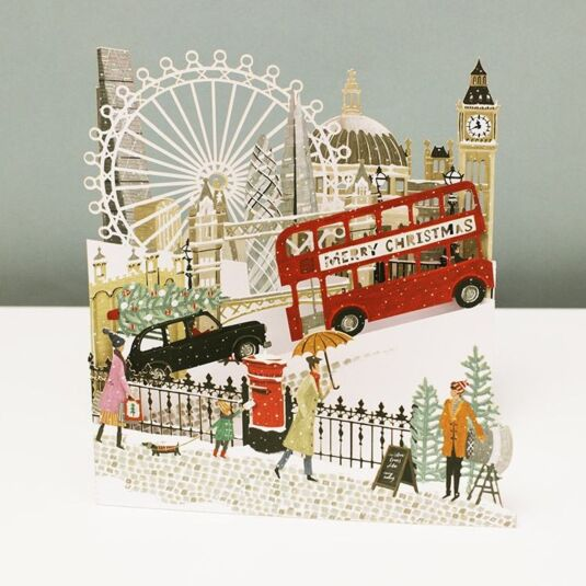 'London' Zig Zag 3D Christmas Card