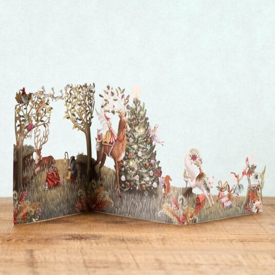 Forest Fairies Zig Zag 3D Christmas Card