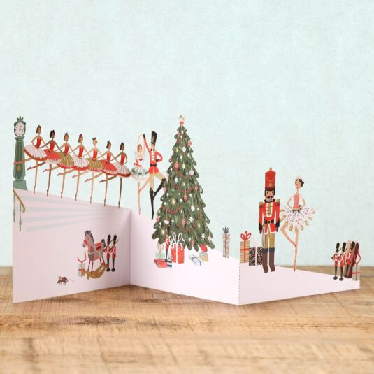 Nutcracker Zig Zag 3D Christmas Card