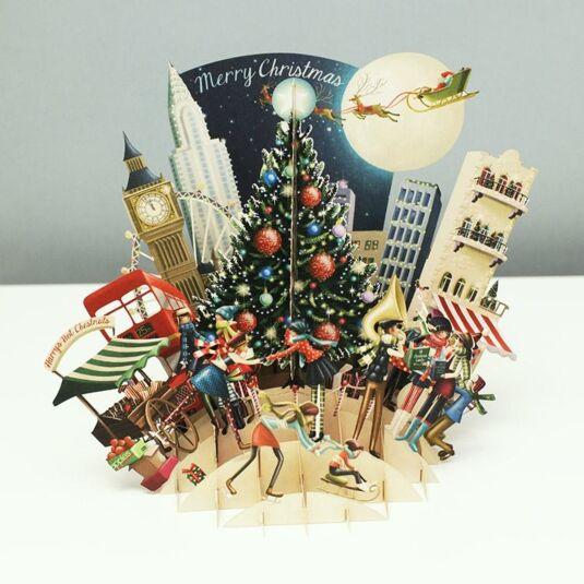 'Christmas Tree' 3D Christmas Card