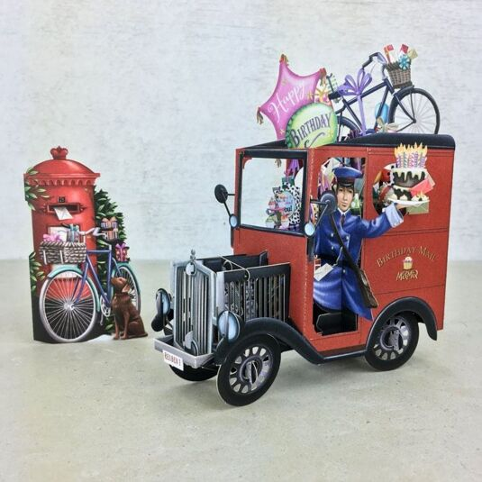 """UK Post Van"" 3D Birthday Card"