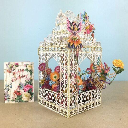 Me McQ Flower Fairies 3D Birthday Card