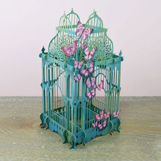 """The Butterfly Cage"" 3D Card"