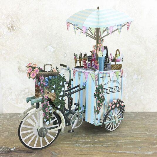 """The Ice Cream Vendor"" 3D Birthday Card"