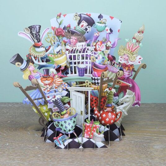 """Mad Hatters"" 3D Card"