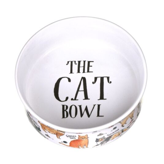 Curious Cats Small Cat Bowl