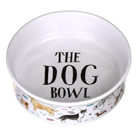 Debonair Dogs Large Dog Bowl