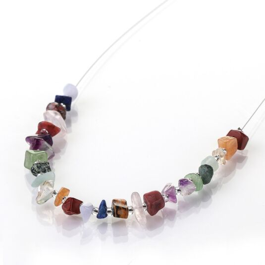 Semi-Precious Chips Links Necklace