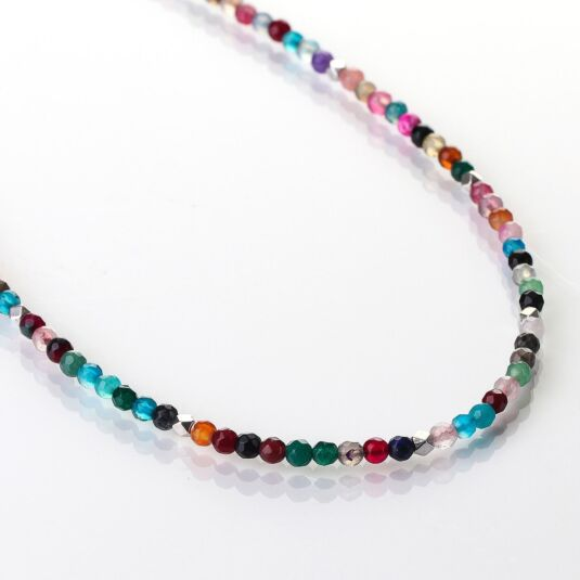 Rainbow Medley Agate Full Necklace