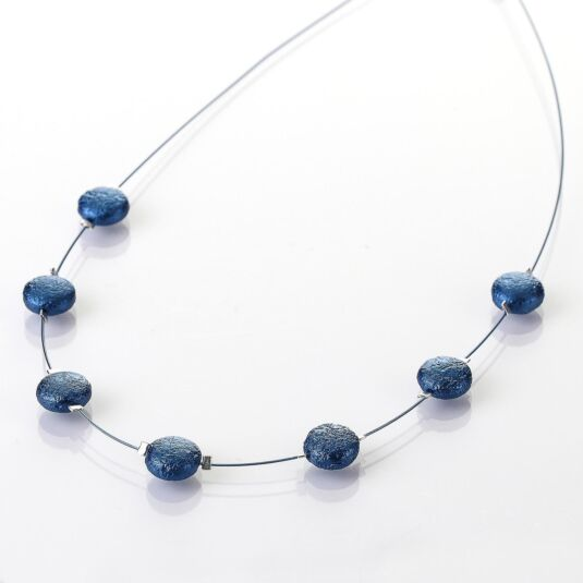 Denim Moons Necklace