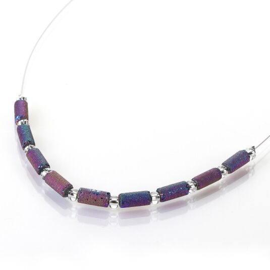 Spectrum Lava Tubes Links Necklace