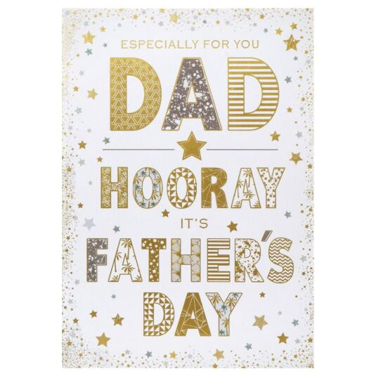 Large 'Stars - Especially For You' Father's Day Card