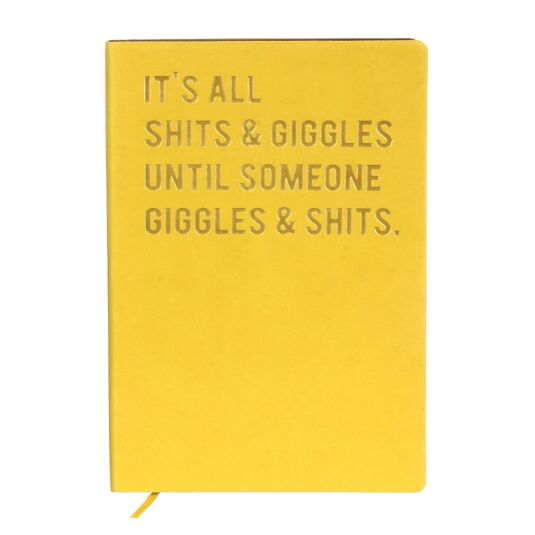 Cloud Nine 'Sh*ts & Giggles' A6 Lined Notebook