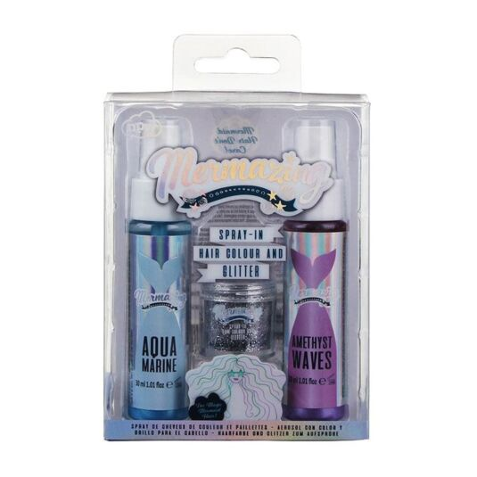 Mermaid Spray-In Hair Colour & Glitter Set