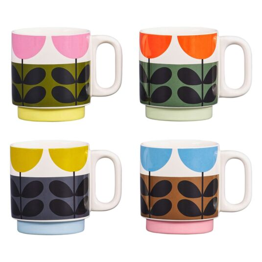 Sunflower Multi Set of 4 Stacking Mugs