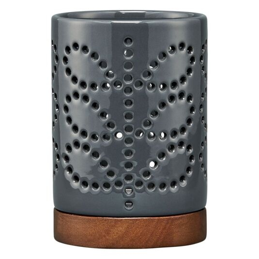 Linear Stem Graphite Ceramic Lantern