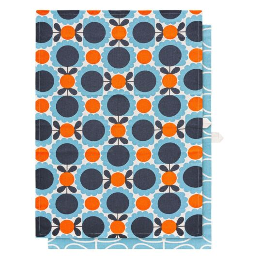Scallop Flower Sky Set of 2 Tea Towels