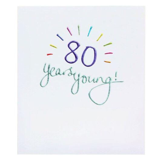 Mimosa 80th Birthday Card