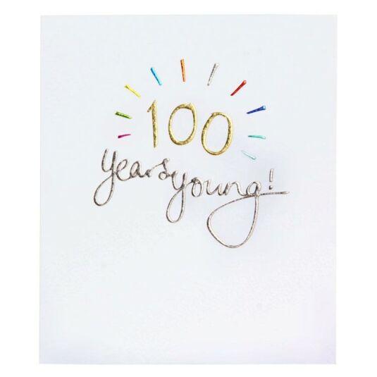 Mimosa 100th Birthday Card