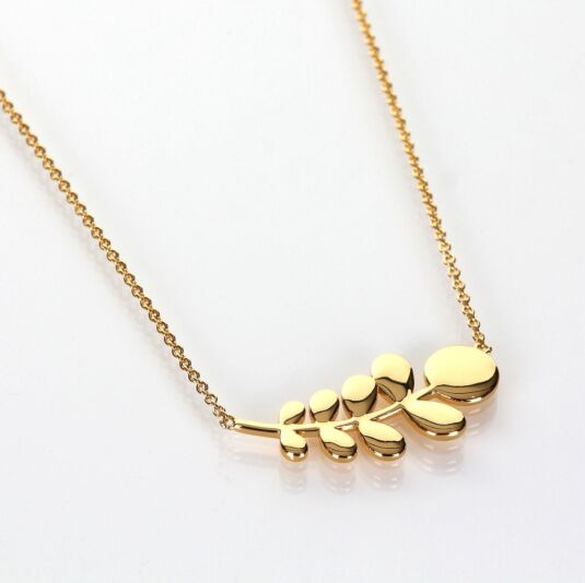 Gold-Plated Leaf Necklace