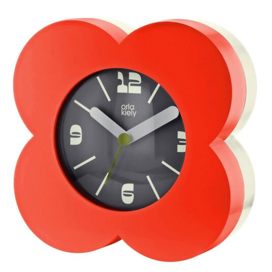 Red Flower Spot Alarm Clock