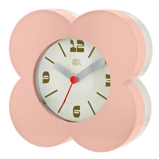 Pale Pink Flower Spot Alarm Clock