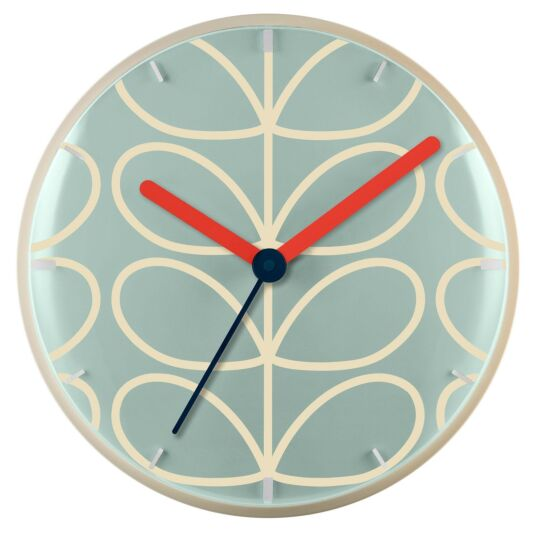 Pale Blue Linear Stem Wall Clock