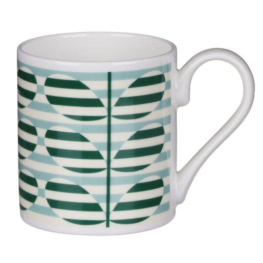 Green Stripe Stem Mug