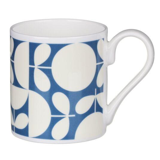 Dark Blue Patchwork Print Mug
