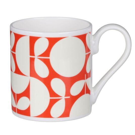 Orange Patchwork Print Mug