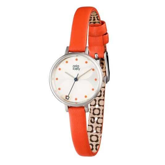 Ivy Watch with Orange Strap