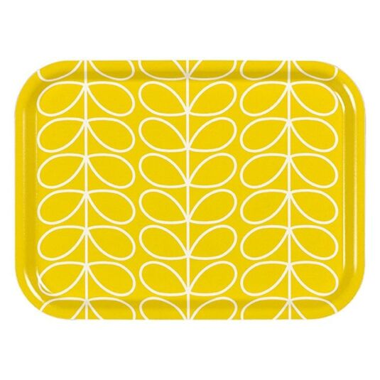 Linear Stem Dandelion Yellow Small Tray