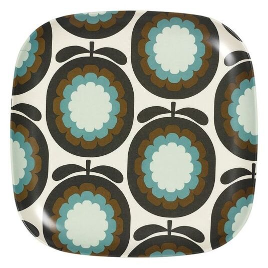 Melon Print Blue Large Plate