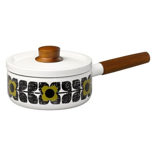 Textured Square Flower Olive Saucepan