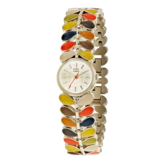 Multi-Stem Watch with Patterned Strap