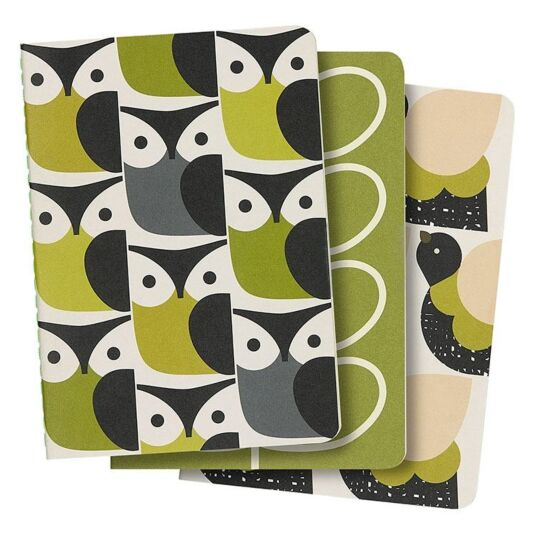 Set of Three A6 Mini Notebooks – Birds