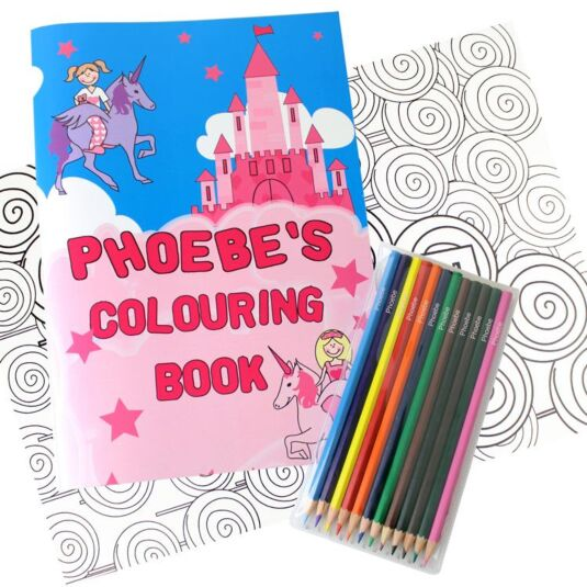 Personalised Princess Colouring Set