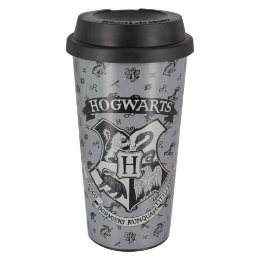 Hogwarts Grey Travel Mug