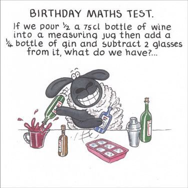 Paperlink Funny Farm Birthday Maths Test Card Temptation Gifts