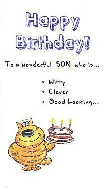 The Funny Farm Happy Birthday Son Card